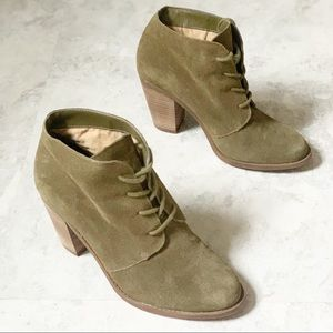 Jessica Simpson Olive Green Cyanne Ankle Booties
